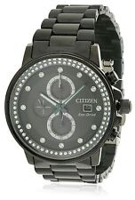Citizen Eco-Drive Nighthawk Black Ion Chronograph Ladies Watch FB3005-55E
