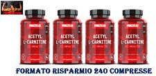 Prozis ACETIL L-CARNITINA  4 x 60 = 240 cpr - Dimagrante e Bruciagrassi
