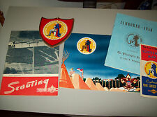 BOY SCOUT JAMBOREE VALLEY FORGE 1950 3 BOOKLETS, MAP, PLAQUE