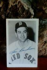 1951 Lou Boudreau signed autograph 6 x 5 1/2 postcard