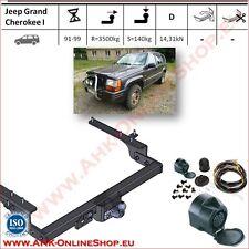 Gancio traino fisso Jeep Grand Cherokee 1991-1999 + kit elettrico 13-poli