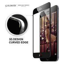 Black Full Cover Tempered Glass 3D Curved Screen Protector For iPhone 8