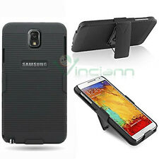 Cover Sliding Stand rigida NERA per Samsung Galaxy Note 3 N9005 clip custodia