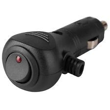 12V Cigarette Lighter Plug with LED Status On/Off Switch