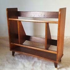 Mid Century Modern Book Shelf Danish Book Case Peg Leg Wood Encyclopedia Retro