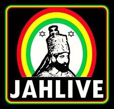 "4.25"" Haile Selassie JAHLIVE vinyl sticker. Lion of Judah Rasta decal for laptop"