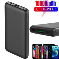 20W USB C Power Bank 10000mAh Portable Charger PD 3.0+QC 3.0 Battery Charger US