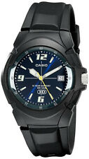 Casio Men's Analog Date 10-Year Battery Life Black Resin Watch MW600F-2AV