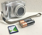 ✅SILVER CANON POWERSHOT SX100 IS 8.0MP DIGITAL CAMERA SD CARD BATTERIES WORKING✅