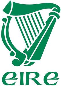 LARGE irish harp eire ireland gaelic vinyl car bonnet van side sticker wall art