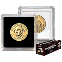 BCW 2x2 Snaplocks Small Dollar Size Archival Plastic Coin Holders - Box of 25