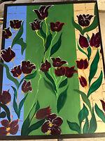 """Huge Eileen Kuller 05 """"Still Life With Flowers Scene"""" #4 Oil Painting - Signed"""