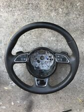 Audi C7 A6 A7 S6 S7 Round 3-spoke, Sport Steering Wheel with Black Shift Paddles