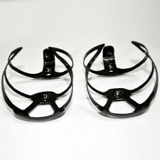 2pcs Water Bottle Cage Holder Carbon UD Glossy Black Road Bike MTB Part Portable
