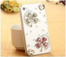 NEW BLING CLEAR DESIGNER DELUX DIAMANTE STYLISH SPARKLE CASE COVER 4 IPHONE 5 5S