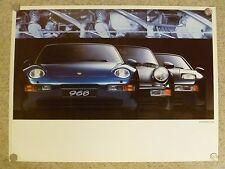 1992 Porsche Full Line - 968, 911 & 928 Showroom Advertising Sales Poster RARE!!