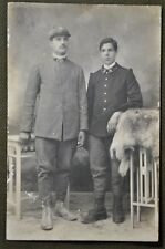 Wwi Italian Officers Rppc - Letter on the Back