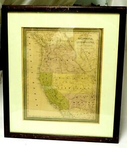 A new map of the state of California, the territories of Oregon & Utah, 1852