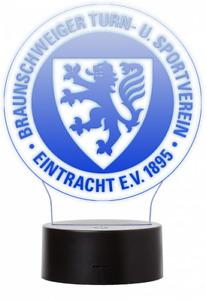 LED Lampe Leuchte Logo im Trikot Design Eintracht Braunscheig NEU! OVP!