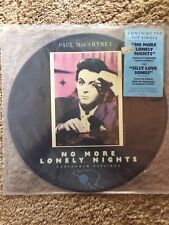 """Paul Mccartney No More Lonely Night 12"""" Single Picture Disc Nm Hype"""