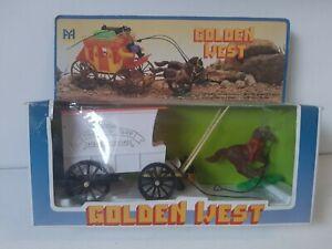 Golden West Medicine Wagon Vintage Toy BNIB Western Cowboy