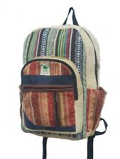 Recycle Cotton Hemp Bag Backpackers Canvas Ruck Sack Laptop Bags Hippy Backpack