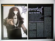 COUPURE DE PRESSE-CLIPPING :  IMMORTAL [3pages] 01/2002 Demonaz,Sons Of Northern