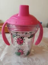 Tervis Lady Bug Sippy Cup with Pink Lid & Handles 6 Oz. My First Sippy Cup GUC