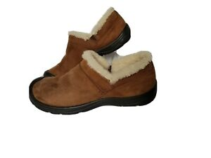 KEEN Women Brown Loafers Shoes Suede Fur Lined Slip-On 53024-POSL Size 9