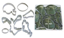 FOOTBALL 6 PC SET COOKIE CUTTER SET 1946 FROM R&M INTERNATIONAL