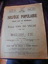 Partition Solfège Populaire basésur le rythme Ernest Van de Velde 1935