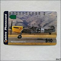 Telstra WWII Fighters Messerschmitt N966733a 1383 $10 Phonecard (PH7)