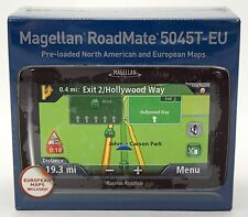 New Sealed Magellan RoadMate 5045T-Eu Gps Traffic Navigation Usa/Can/Europe Maps