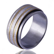 Decent Mens wedding Band Ring Stainless Steel Size 10# free shipping