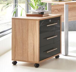 Büro-Container / Rollcontainer TABOR abschließbar mit 3 Schubladen in 5 Farben