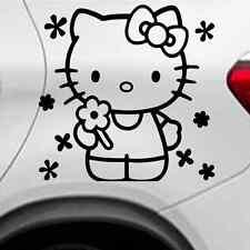 Des Autocollants Tatouage environ 14x10 cm en noir. Voiture diapositives-Hello Kitty