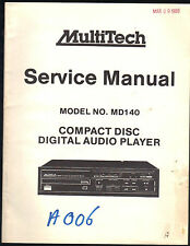 Compact disc blank in vintage electronics ebay multitech service manual md140 cd compact disc player original factory repair publicscrutiny Image collections