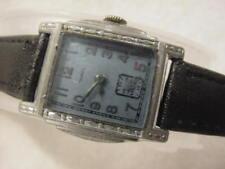 Vintage large antique pre 1920 Art Deco BANNER ENGRAVED CURVEX mens watch