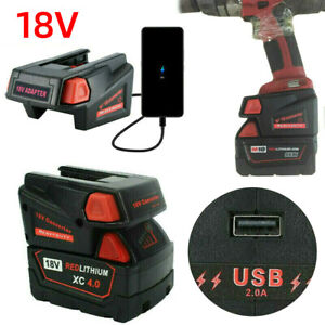 Adapter Converter USB Adapter For Milwaukee M18 18V To V18 Li Battery Charger