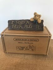 "Boyds Bears & Friends ~Desk Sign~ ""Harry. On The Job"" I Need A Bear Hug 4108"