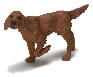 Miniature Dollhouse Irish Setter Dog 1:12 Scale New
