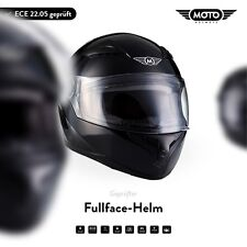 FULL-FACE HELMET MOTORCYCLE Motorbike BIKE Scooter Moto X86 G. Black XS S M L XL