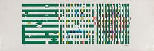 AGAM Y, Green progression Original S&N Silkscreen KINETIC, signed, from dealer