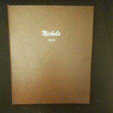 Dansco Coin Album Nickel collection, Buffalo and Jefferson Used