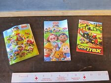 Fisher Price Toy Booklets Inserts 2002 2004 2009 Little People, Geo Trax Ads
