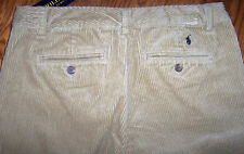 NWT Polo Ralph Lauren Khaki Corduroy Dress Pants 14 Boys $55 Preppy Navy Pony