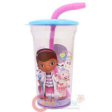 Disney Jr. Doc Mcstuffins Drinking Bottle Tumbler Flex Straw  Kids Dinner