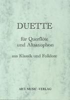 50 DUETTE QUERFLÖTE - ALT-SAXOPHON KLASSIK & FOLKLORE ( NOTEN )