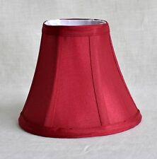 "Urbanest Chandelier Mini Lamp Shade, Softback Bell,Burgundy Silk, 3""x6""x5"""