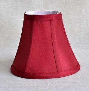 "Urbanest Chandelier Mini Lamp Shade, Softback Bell,Burgundy Silk, 3""x6""x5"""